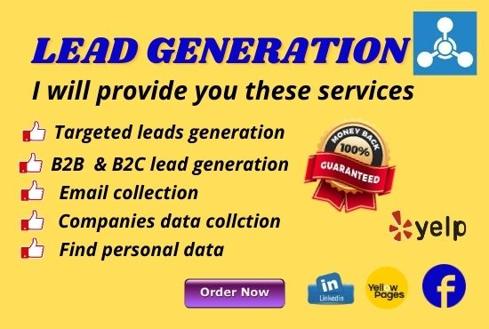 I will provide 20 LinkedIn Lead generation and B2B/B2C leads