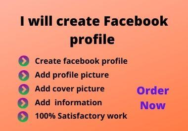 I will create Facebook profile