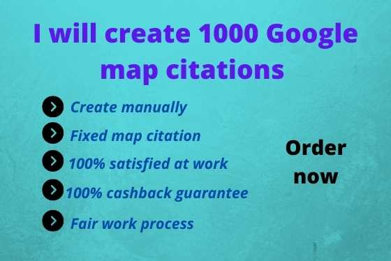 I will create 200 google map citations for local SEO