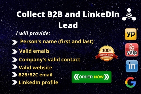 I will collect B2B and LinkedIn lead generation