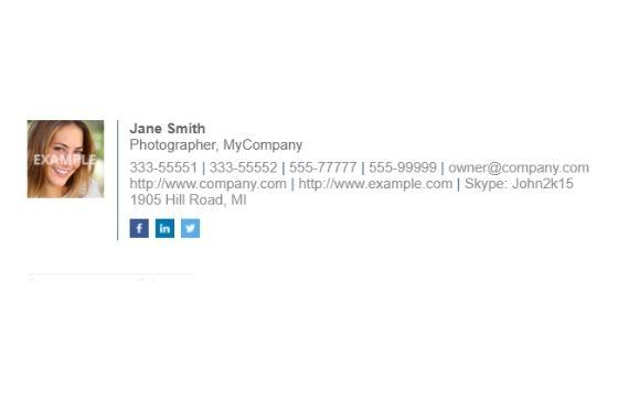 I will design a clickable HTML email signatures