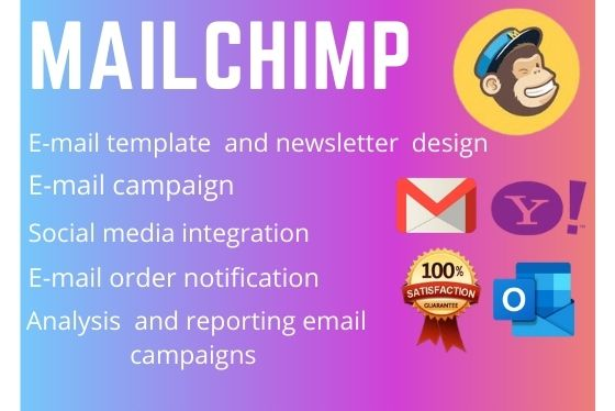 I will design mailchimp email template,  newsletter and setup email campaign automation