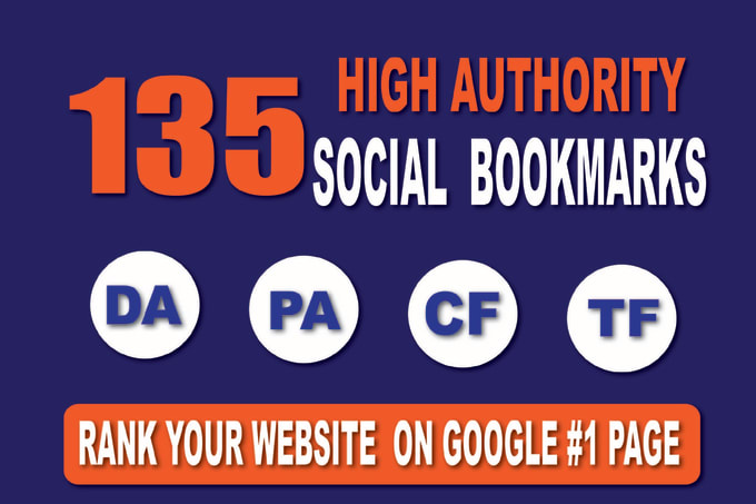 Create Manually 135 High Quality Social Bookmarks For SEO Ranking With High DA PA TF