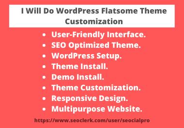 I Can Do WordPress Flatsome Theme Customization