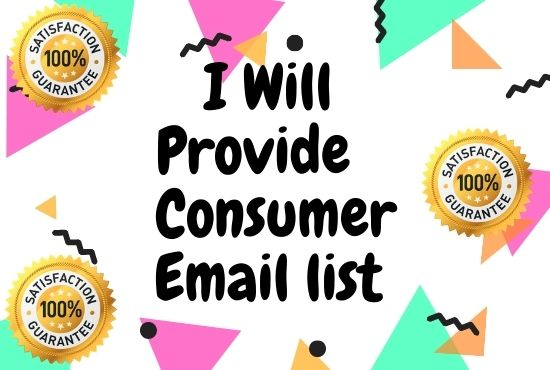 I will do USA valid Consumer email list