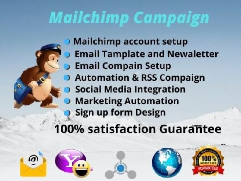 I will design mailchimp automation,  email campaign, template