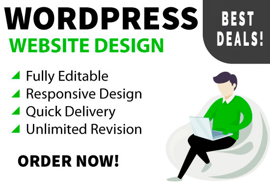 I will create a stunnin,  responsive and unique design website within short time period