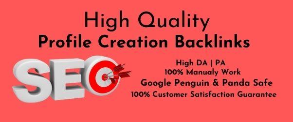 Manually Create 60 Do-Follow High PA DA Profile Creation Backlink For Increase Website Authority