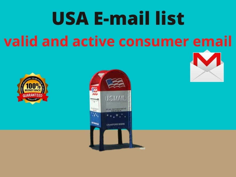 10000 USA based valid and active consumer email list