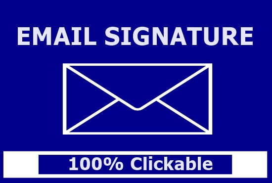 Create manually Clickable Email Signature