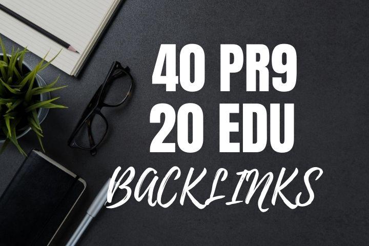 do 40 High DA and 20 edu Backlinks