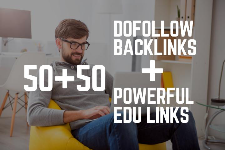 create manually 50 dofollow and 50 powerful edu gov backlinks service