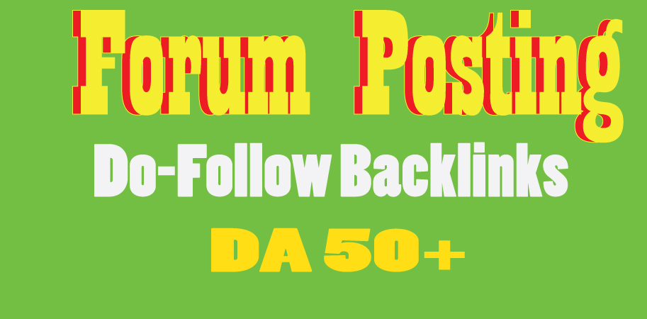 I will manually create 30 forum posts on DA 50+ Website