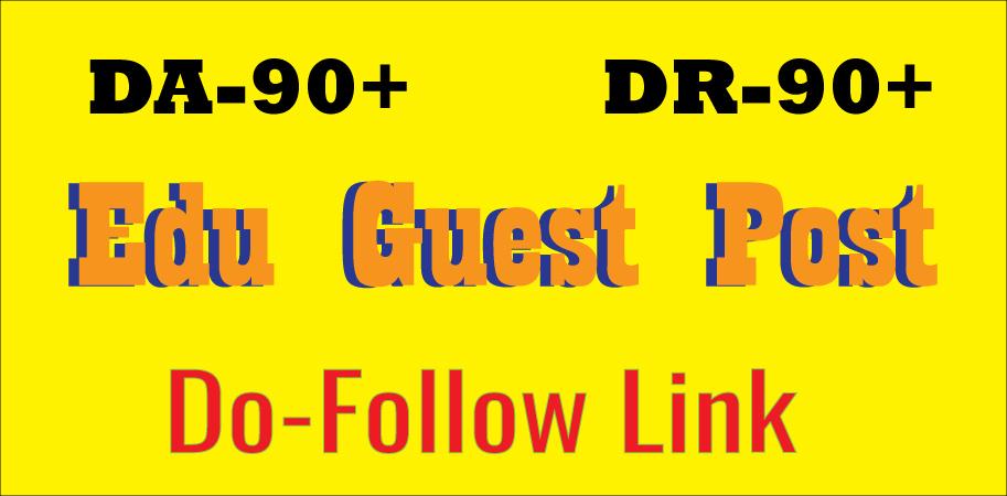 Write and Publish EDU Guest Post backlink DA90+ DR90+ Do-FoIIow Link