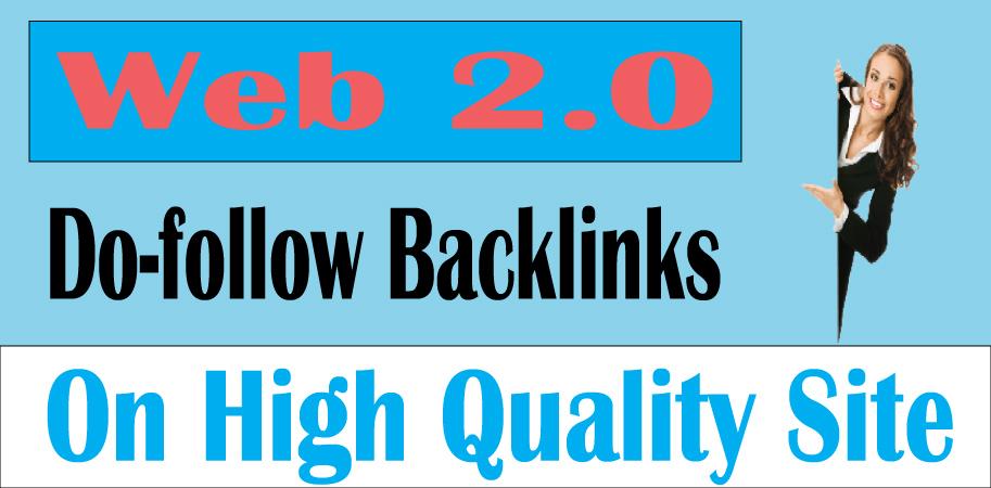 I will create 15 Web 2.0 do-follow back-links on 30+ to 100 DA sites