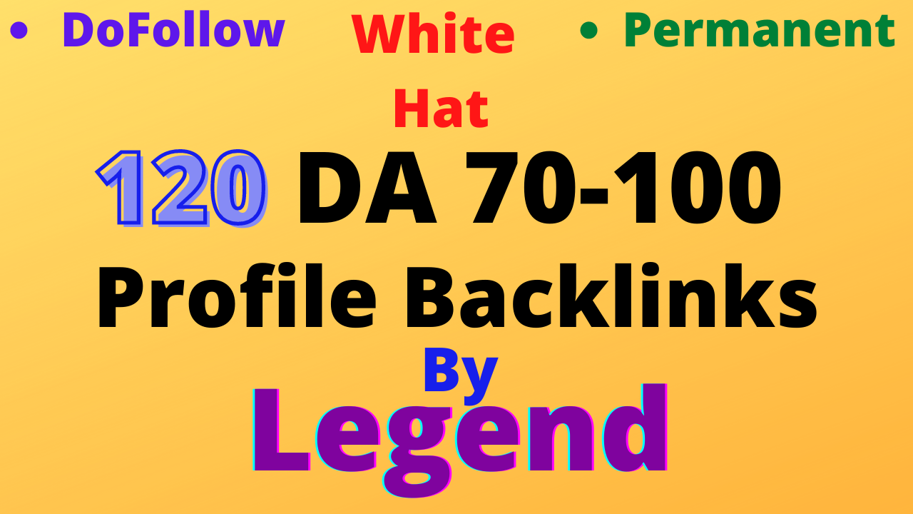 I will create 120 high da profile backlinks