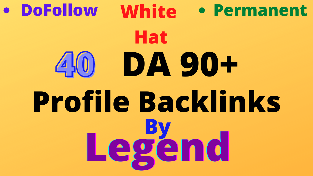 I will create 40 high da profile backlinks