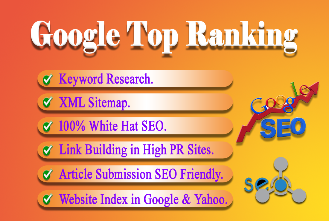 I will provide SEO service for Google Top Ranking