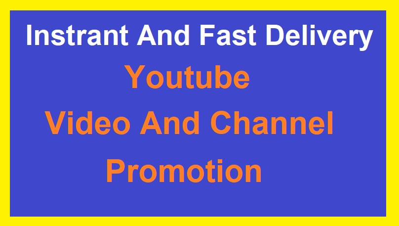 Real Video and Channel promotion very fast