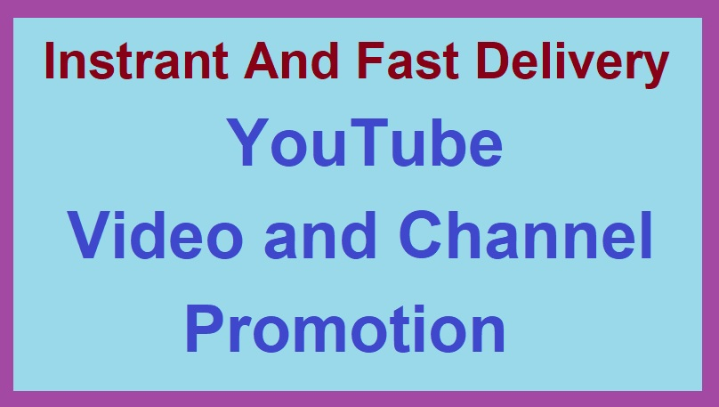Real Youtube Promotion And super fast delivery