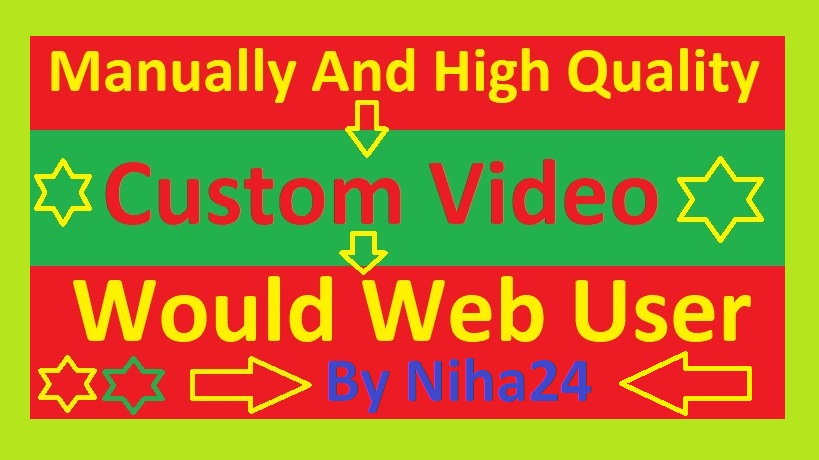 Real YouTube Video And Custom Video Promotion Via Super Fast delivery