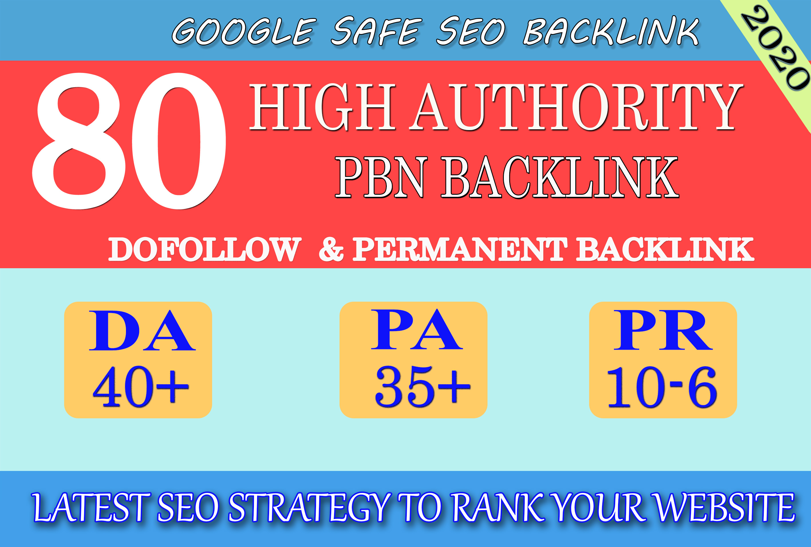 I will provide DA40+ PA30+ PR6+ 80 Web2.0 High Quality Backlink and 100 Dofollow and Permanent