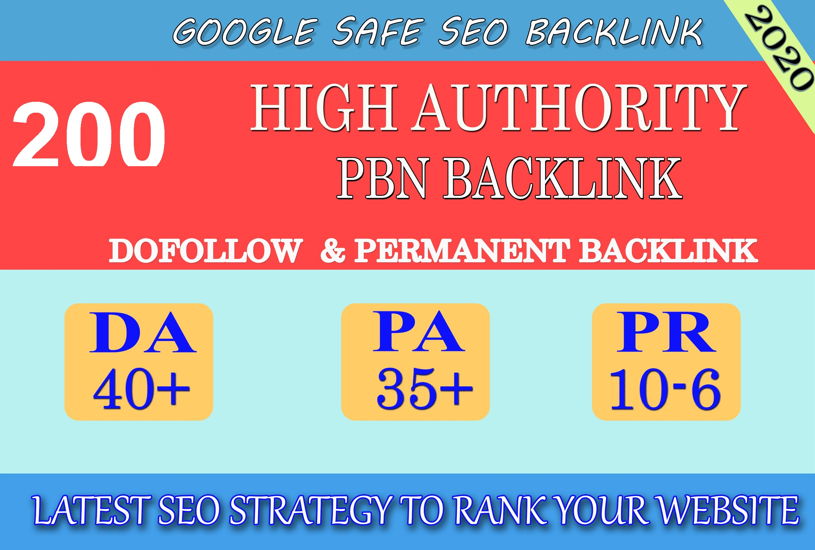 I will provide DA40+ PA30+ PR6+ 200 Web2.0 High Quality Backlink and 100 Dofollow and Permanent