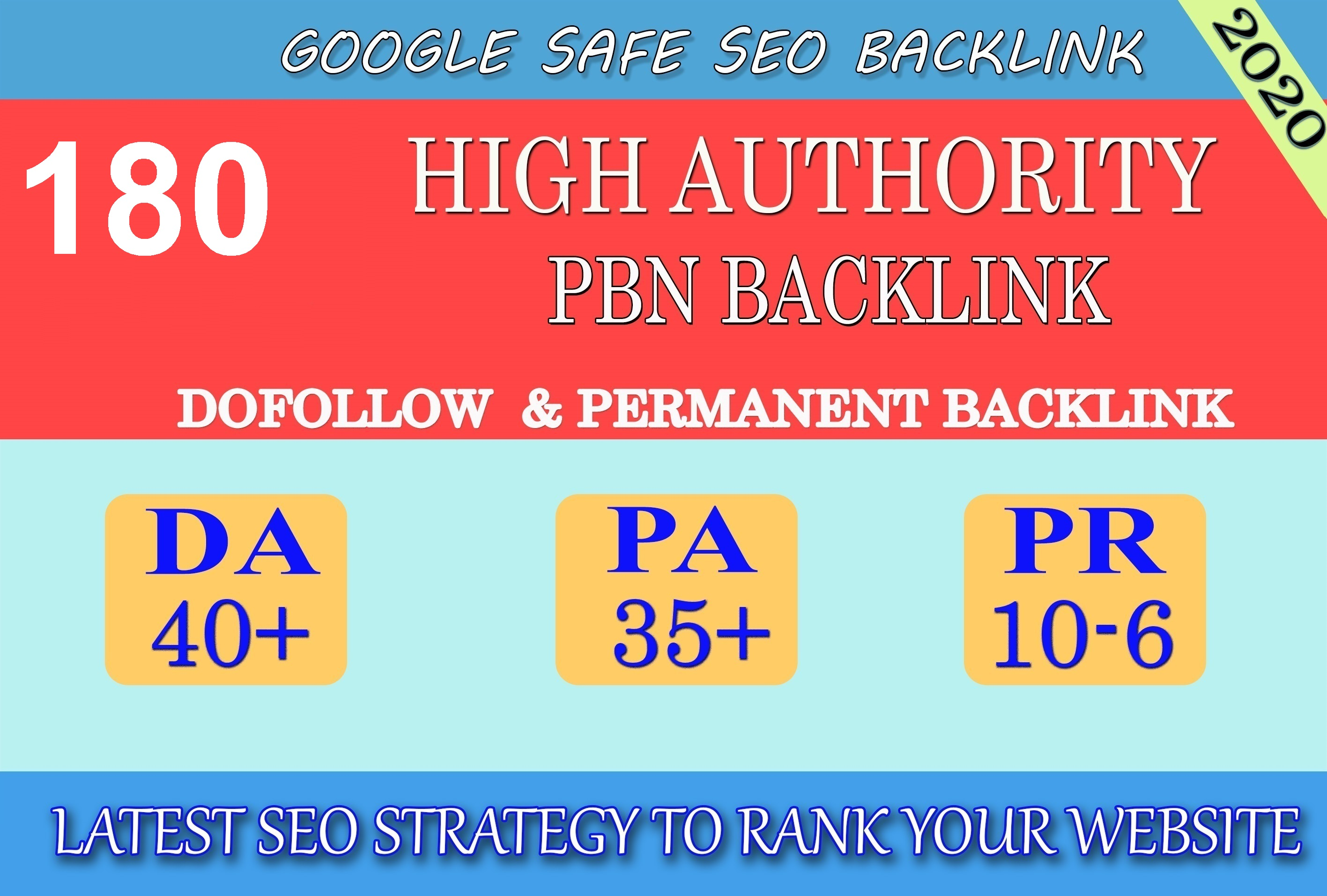 I will provide DA40+ PA30+ PR6+ 180 Web2.0 High Quality Backlink and 100 Dofollow and Permanent