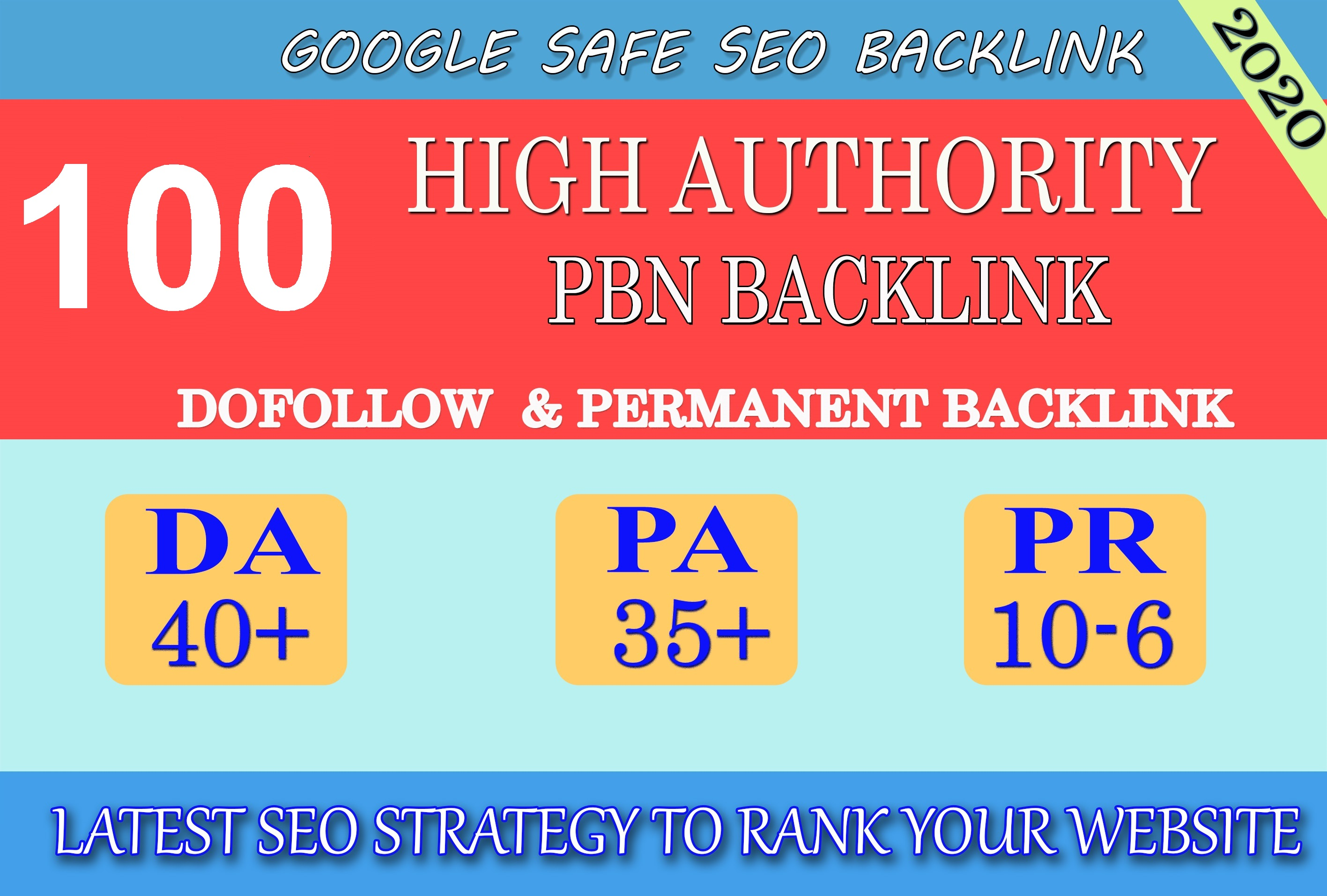 I will provide DA40+ PA30+ PR6+ 100 Web2.0 High Quality Backlink and 100 Dofollow