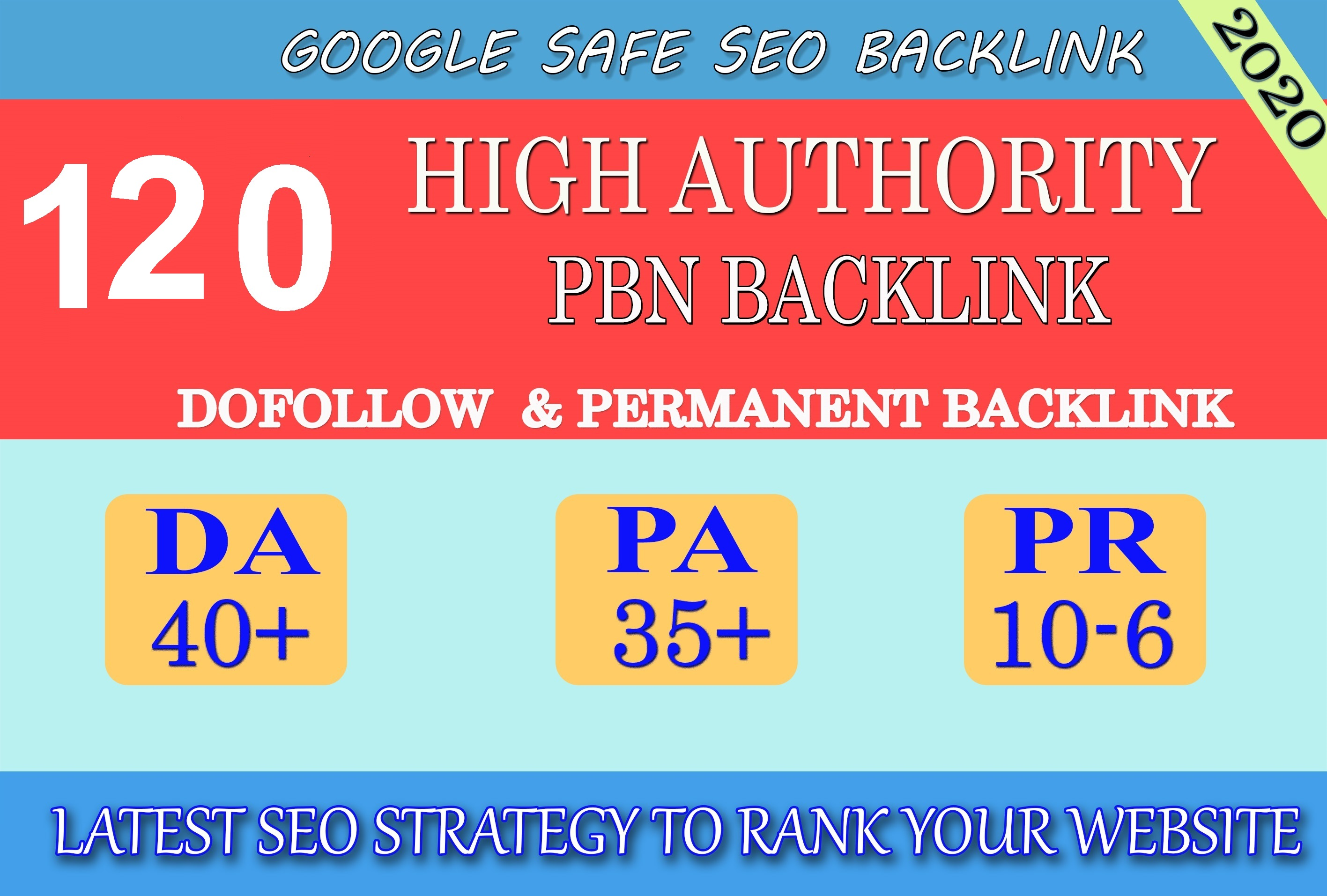 I will provide DA40+ PA30+ PR6+ 120 Web2.0 High Quality Backlink and 100 Dofollow and Permanent