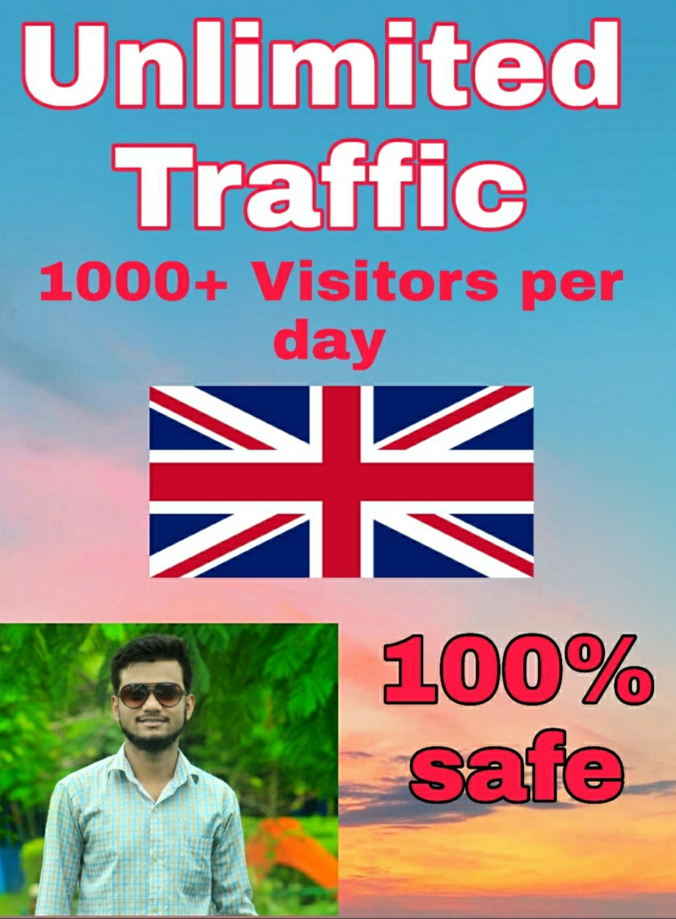Drive safe Genuine Organic Traffic For 30 Days
