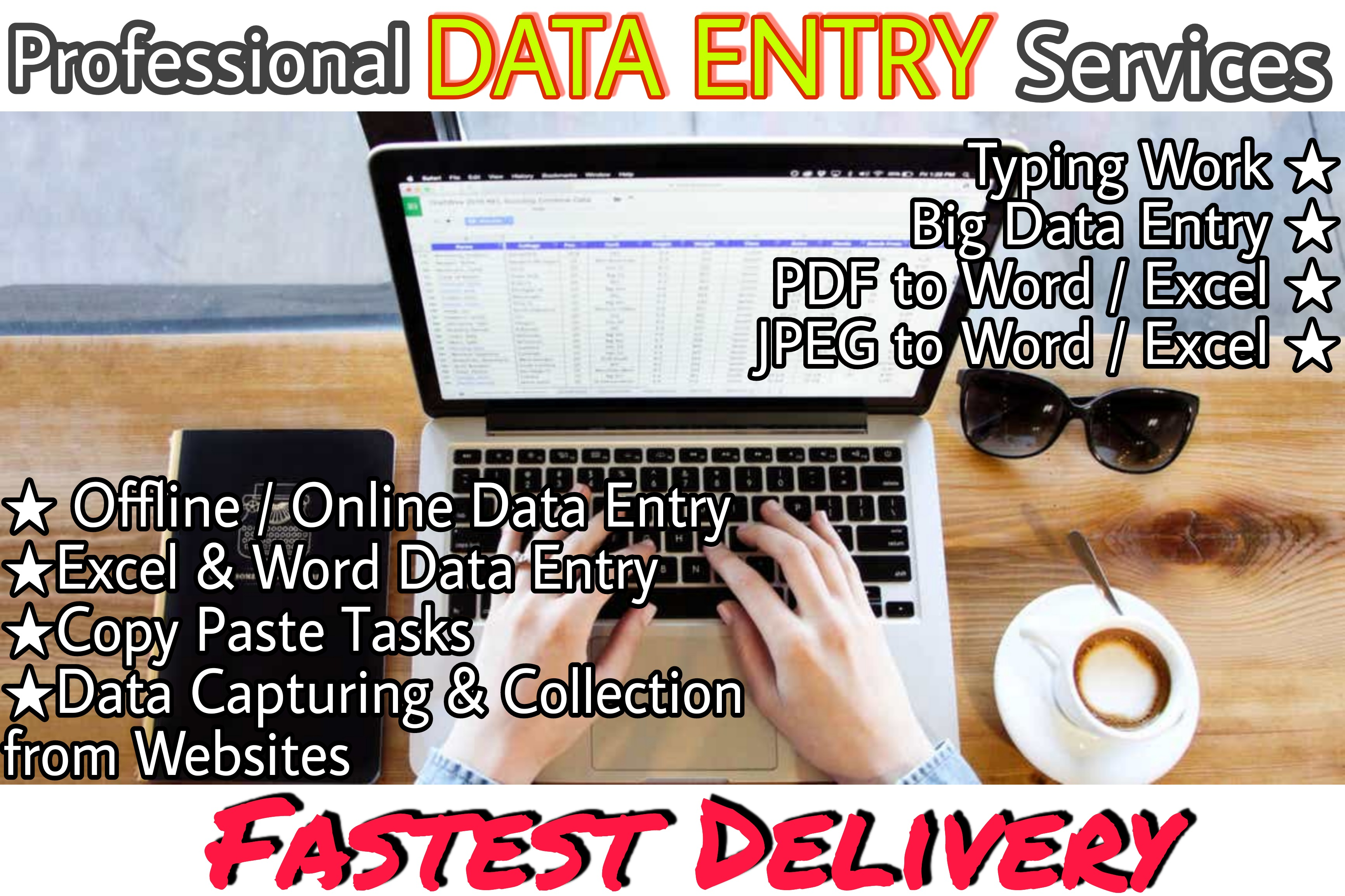 Data Entry Service at low cost.