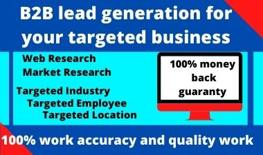 Do b2b lead generation for your targeted business
