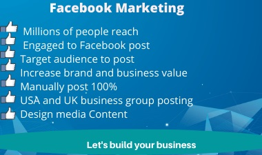 I will promote your business on facebook over millions of targeted people.
