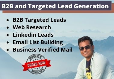 I will do B2B and targeted lead generation and web research