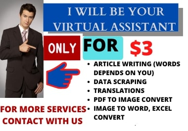 I will do efficient Article and Content writing,Data Entry, online research, copy paste.
