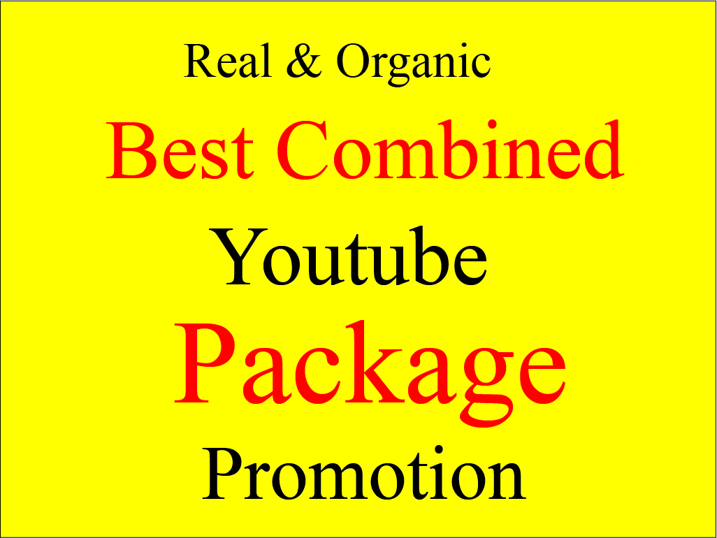 I will Do Organic promote your youtube video Instant