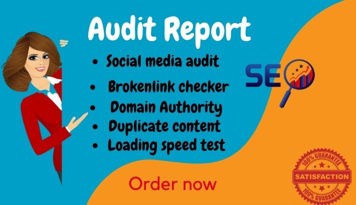 I will provide website audit report within 24 hours