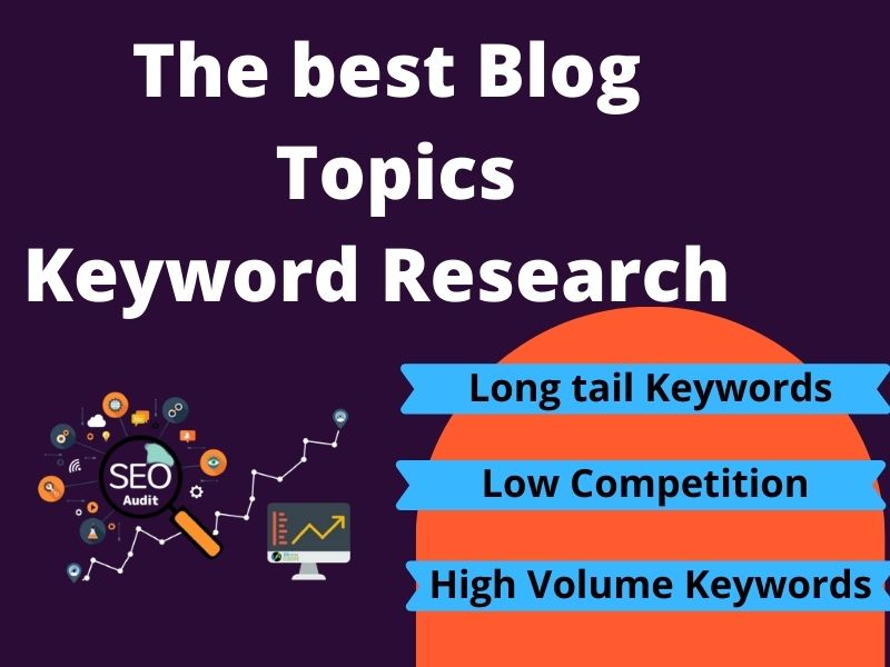 I will research blog topic ideas with high volume keywords