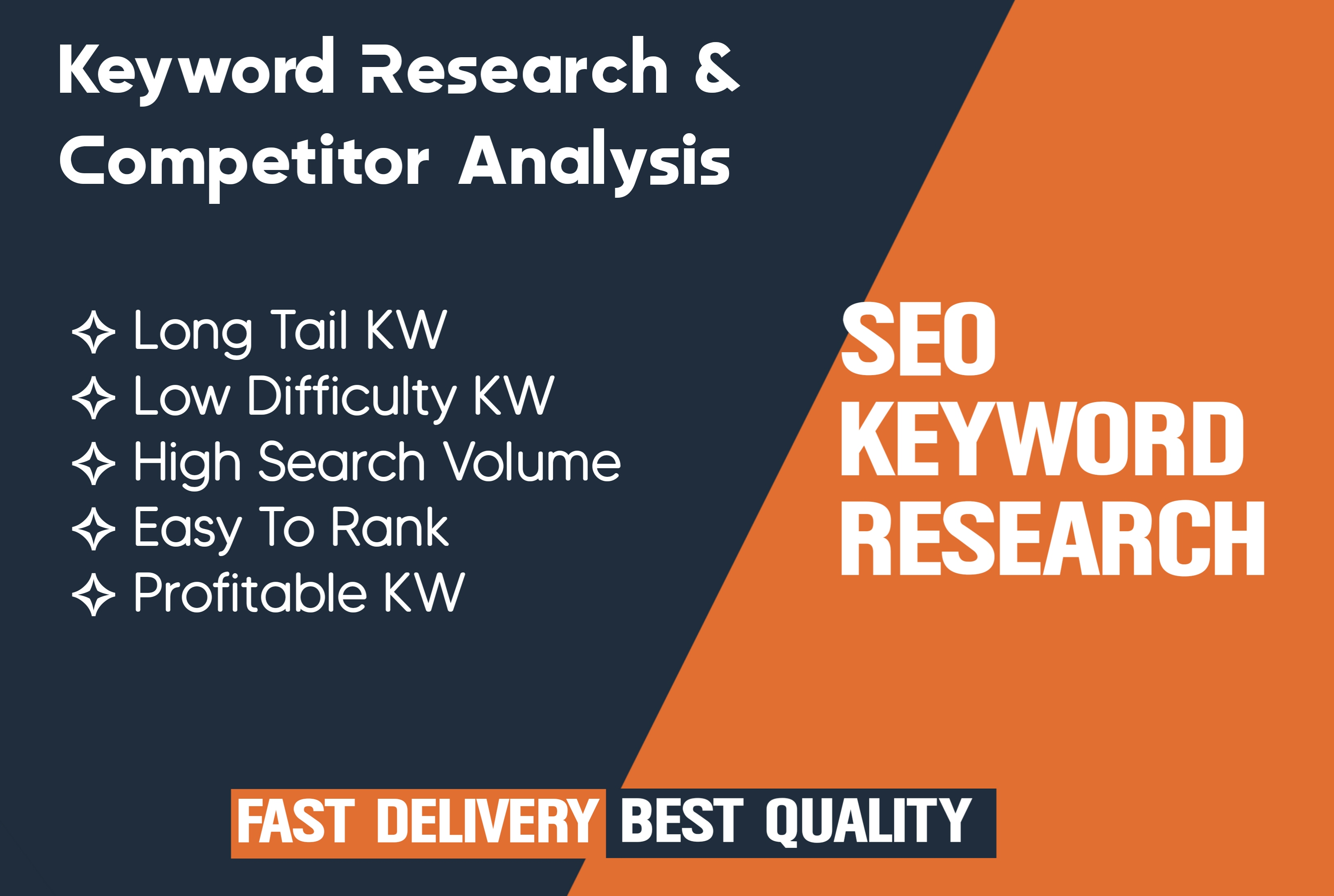 I will do Best Keyword Research and Competitor Analysis that rank your website fast