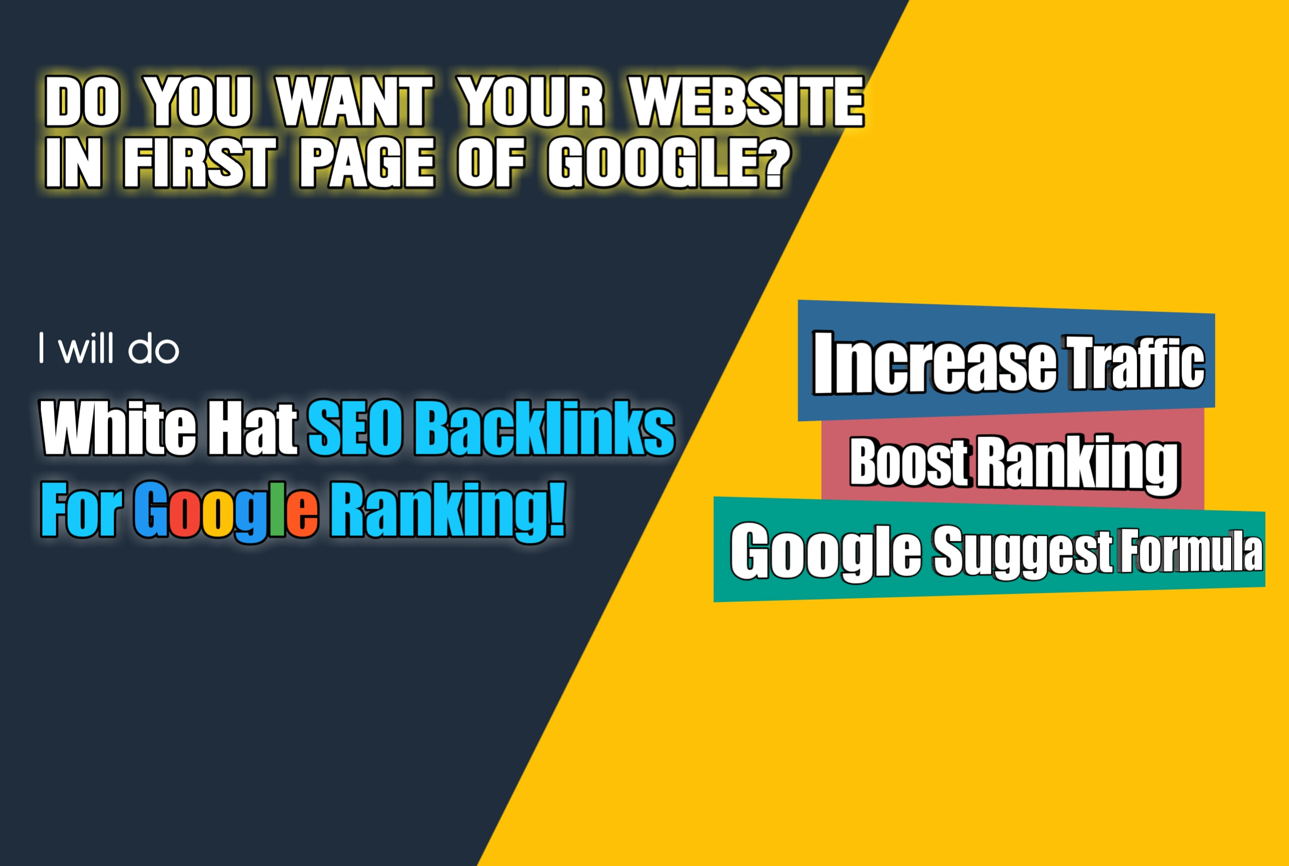 Boost your website to first page of Google with Quality Backlinks