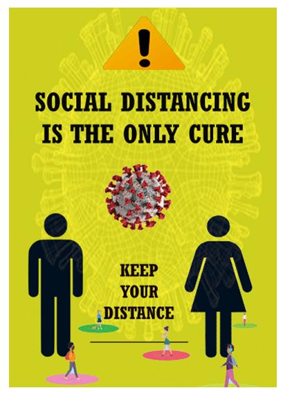 Poster regarding corona pandemic