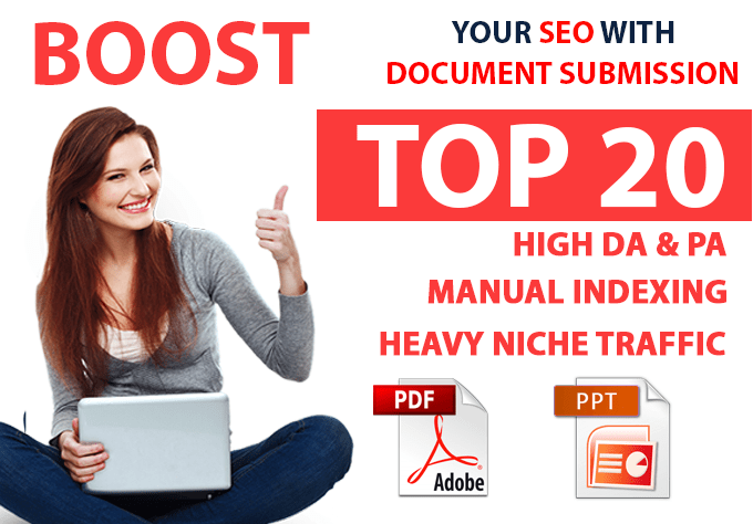 Complete SEO Pack Get 20 PDF or Document Sharing with reports,  Check for extras for complete seo