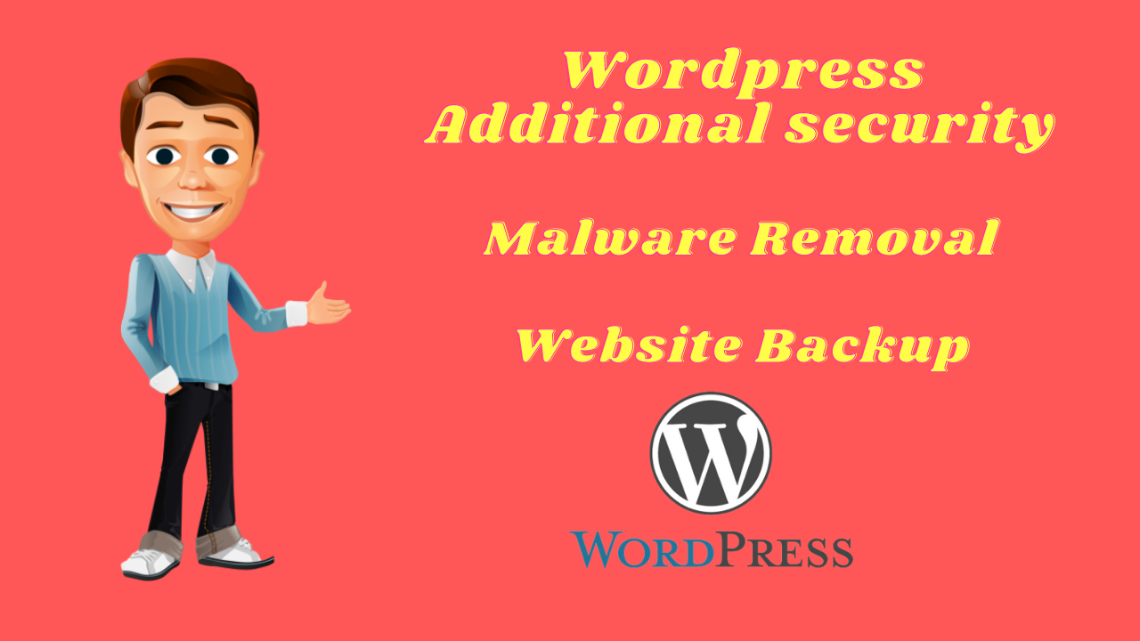 I will do remove malware, recover backup and word press security