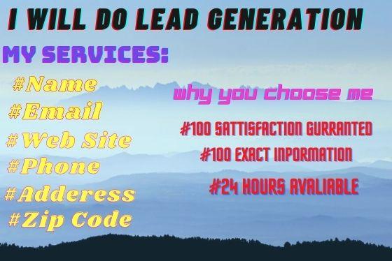 I will provide lead generation