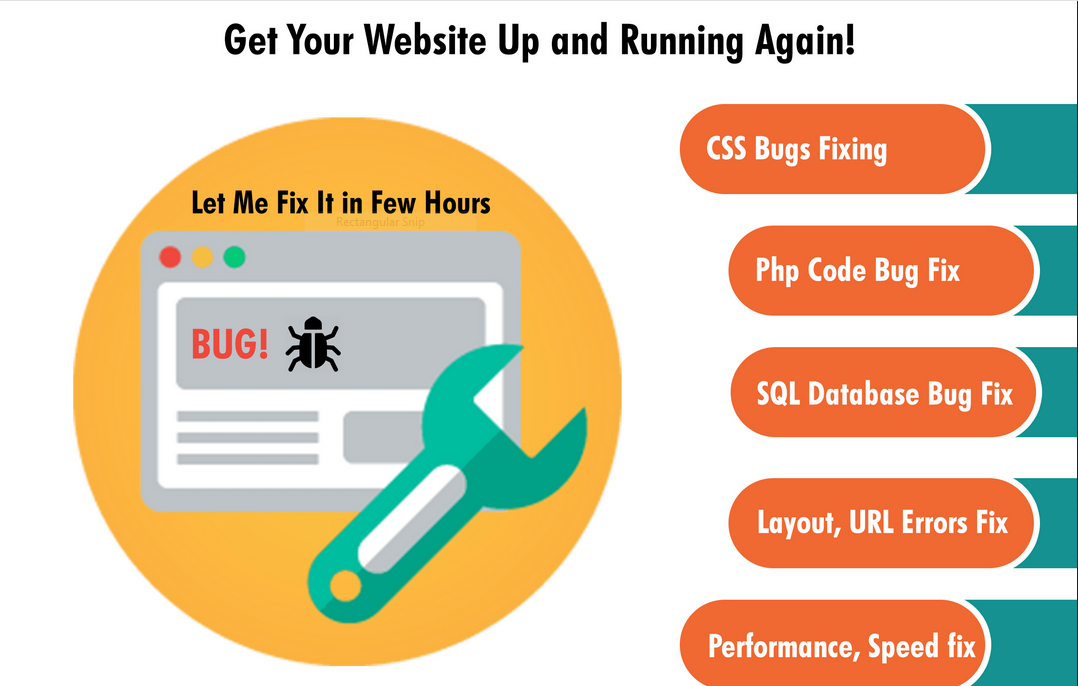 I will any issue in your website related php, css, javascript, html, mysql, or any database isue