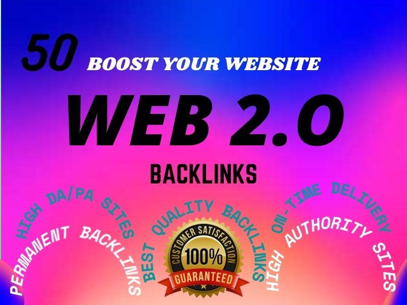 I Will Provide 50 Dofollow web 2 0 Backlinks service