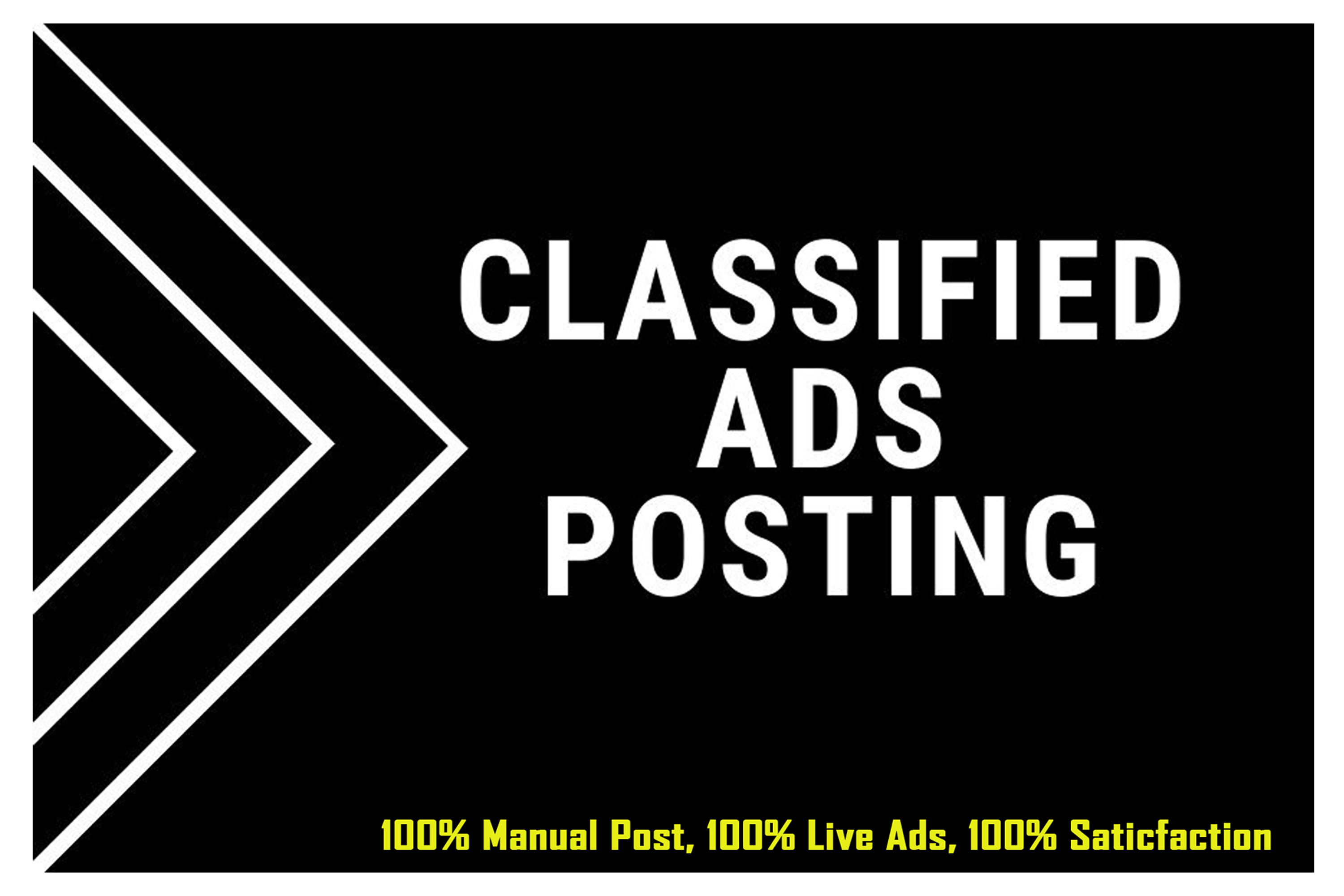 I Will Post Your Ads On 100 Classified Ad Posting Sites In The USA/UK/CANADA/AUSTRALIA