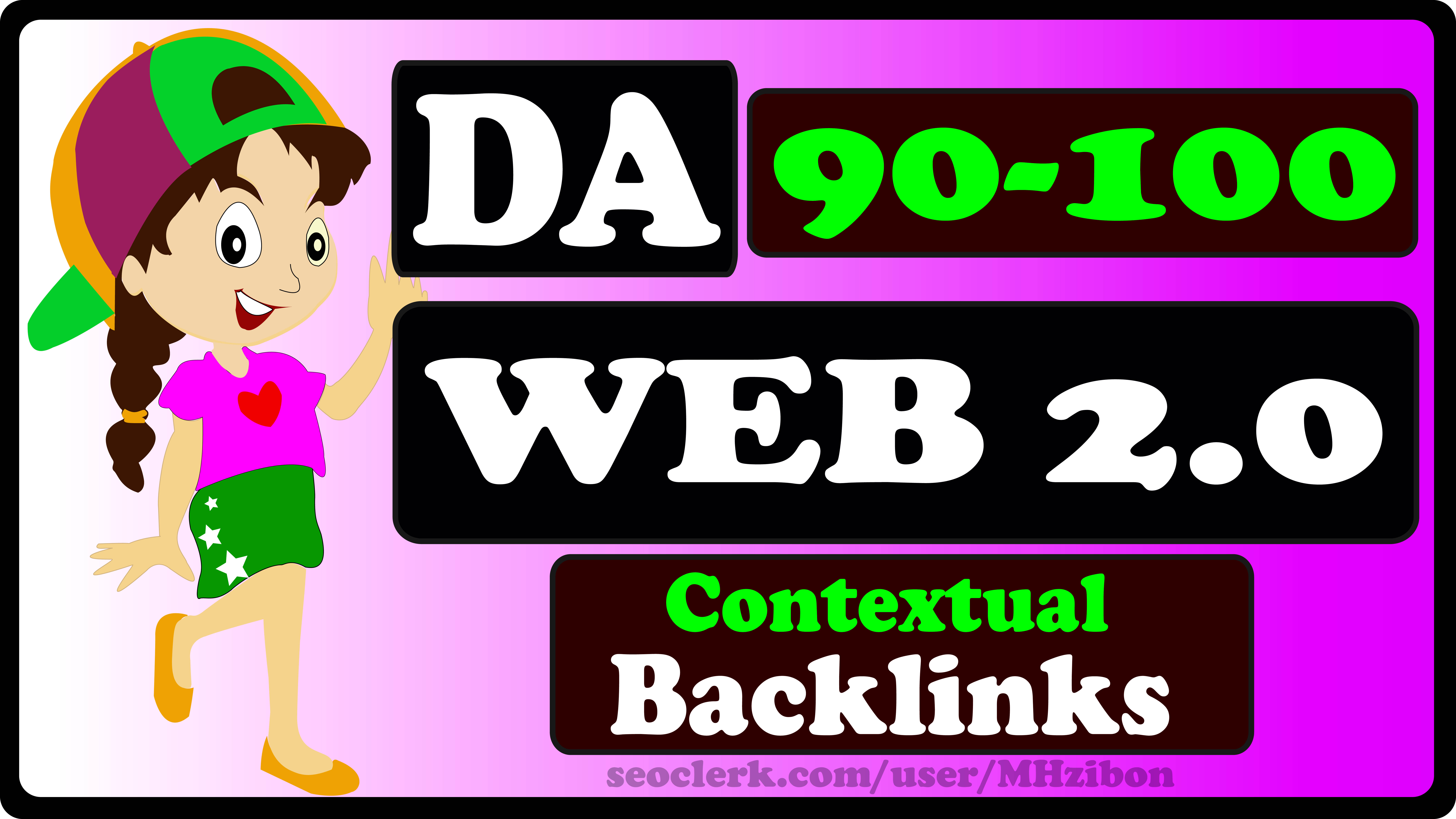 20 Web 2.0 - DA90+ Contextual Backlinks