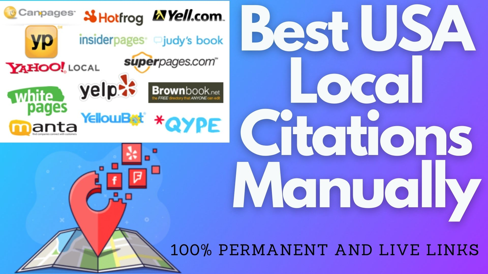 I will do best local SEO,  business listing,  maps listing,  directory submission,  local citation